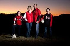 Soccer family photo ideas