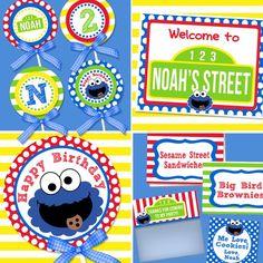 Cookie Monster Birthday, Sesame Street Birthday Decorations, Sesame Street Party, Amandas Parties To Go Monster 1st Birthdays, Monster Birthday Parties, Elmo Party, First Birthdays, 1st Birthday Party For Girls, Kids Birthday Themes, Sesame Street Party, Sesame Street Birthday, Monster Invitations