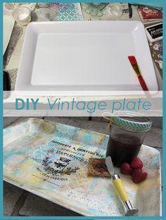 DIY Vintage Plate ma