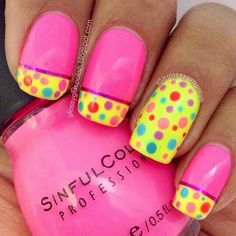 Work with little's they would like to see these anytime! Fun Nails Bellyitch: 20 Easter Nail Designs to Inspire You Nail Art Designs, Easter Nail Designs, Fingernail Designs, Nails Design, Design Design, Funky Nails, Trendy Nails, Bright Nails, Get Nails