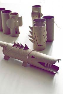 Recicla los rollitos del papel y crea con tus hijos unas fantásticas y creativas criaturas ¡Diviértete siempre junto a ellos!