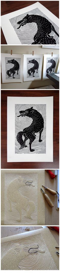 The Wolf by Meriç Karabulut, via Behance