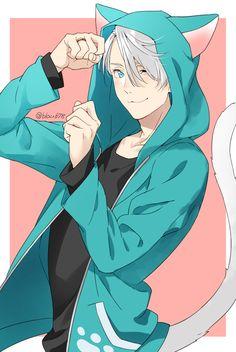 Victor looks so cute!!!