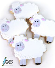 Sheep Cookies | by Baked on Briar
