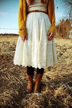 Lace Skirt - Follow my Feminine Fashion board for more ideas: http://www.pinterest.com/themodestmom/feminine-fashion/