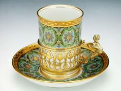 Porcelain cup and saucer set by Limoges, France 1924
