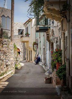 """Γειτονικά στιγμιότυπα στα στενά του χωριού """"Ολύμποι"""" Χίου Νeighboring snapshots at the alleys of """"Olympi"""" village in Chios"""