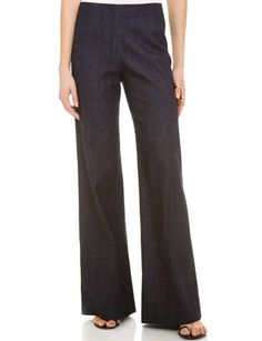 DONNA KARAN High Waist Wide Leg Pants