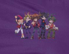 Yugioh Yu-Gi-Oh! Yuma Yusei Chibi group T-shirt
