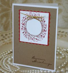 stampin up wreath