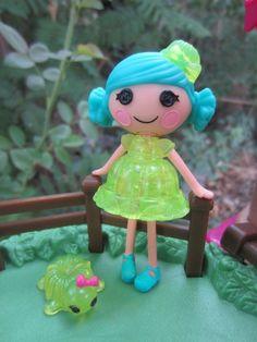 Mini Lalaloopsy *JELLY WIGGLE JIGGLE* Doll ~*with pet Jello Mold Turtle! Lot m13 #Dolls