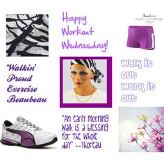 """Workout Wednesday Walking Proud"" by lanabeaubeauty on Polyvore"