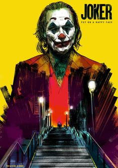 Joker Poster - Created by Glen Stone Le Joker Batman, Der Joker, Joker Art, Joker And Harley Quinn, Gotham Batman, Batman Art, Batman Robin, Joker Poster, Marvel Heroes