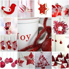 Red & white Christmas by LHDumes, via Flickr