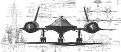 sr-71 schematics | Artwork by David Hebert, Photo Courtesyof Evergreen Aviation)