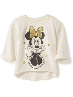 Disney&#169 Minnie Mouse Hi-Lo Sweatshirt for Toddler Girls #babygirlsweatshirts