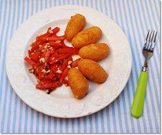 Gizi-receptjei. Várok mindenkit.: Sajtkrokett narancsos-mázas sárgarépasalátával. Chicken Wings, Carrots, Lime, Vegetables, Food, Diet, Limes, Essen, Carrot