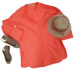 Women's Look: Beach Bound- Grevi Hat, Jil Sander Raissa Tunic Top, Castaner Bel Wedge Espadrille