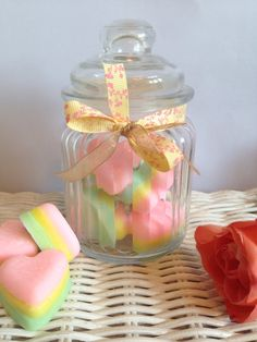 Heart wax melts, rainbow wax melts, heavenly wax melts, eco soy wax melts, wax melt gift, gift for friend, gift for partner, gift for Mum