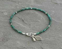 Turquoise Leaf Bracelet by LindseySilberman