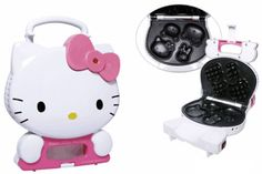 Cocina deliciosas tortitas con Hello Kitty Waffle Maker |