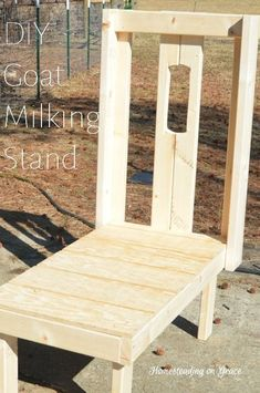 DIY Goat Milking Stand - makes milking and grooming your goats way easier... #goats #diy #homesteading