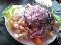 Ceviche, en uno de los restaurantes de La Punta, Callao, Perú.