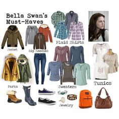 """Bella Swan Must-Haves"" by keepsmiling184 on Polyvore...I may hate Twilight, but I do like the look."