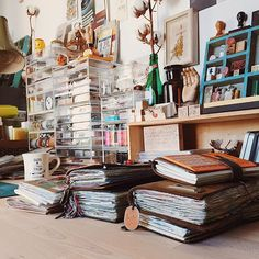 Awesome planning/crafting desk!  Love the cotton in the soda bottle!  Someday . . .