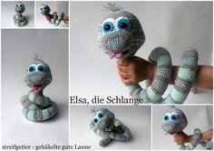 Häkelanleitung Schlange Elsa