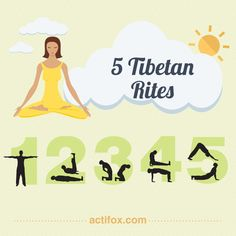 5 Tibetan Rites Instruction (Your Complete Guide) - Infographic & Video Yoga Sequences, Yoga Poses, 5 Tibetan Rites, Energy Arts, Belleza Diy, Infographic Video, Surya Namaskar, Kundalini Yoga, My Yoga