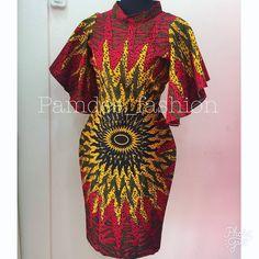 Lovely Ankara Styles for Curvy Women - Sisi Couture African Print Fashion, Fashion Prints, Ankara Fashion, African Wear Dresses, African Attire, Royal Fashion, Cute Fashion, Women's Fashion, Chitenge Dresses