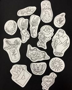Here are all of the designs that made for the Mothers Day flash event this Saturday at our private studio! For more info… Flash Art Tattoos, Music Tattoos, Body Art Tattoos, Sleeve Tattoos, Ship Tattoos, Gun Tattoos, Ankle Tattoos, Arrow Tattoos, Word Tattoos