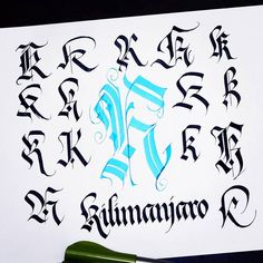 K is for 'killing this alphabet variations'. K's are so cool there's always something new to add. Gothic Lettering, Graffiti Lettering Fonts, Tattoo Lettering Fonts, Types Of Lettering, Lettering Styles, Lettering Design, Hand Lettering, Calligraphy Fonts Alphabet, Tattoo Fonts Alphabet