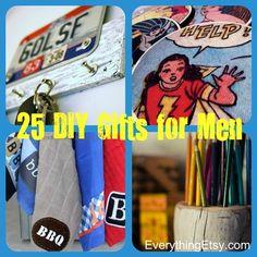 25 Handmade Gifts for Men {DIY}