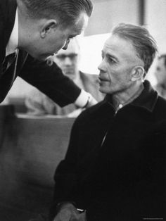 Mass Murderer Ed Gein Getting Advice from His Lawyer, William Belter Waushara County
