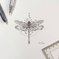 #GeometricBeasts | Dragonfly