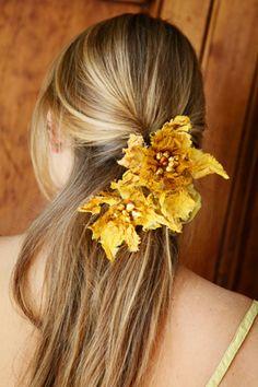 autumn leaves hair ornament