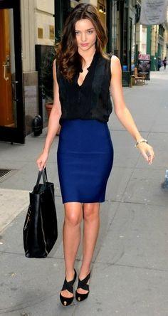 Pencil skirt... short but not too short.