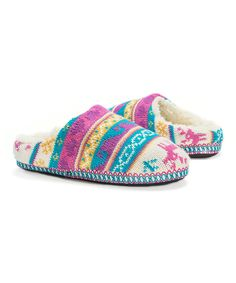 Look at this Magical Forest Scuff Slippers - Women on #zulily today!