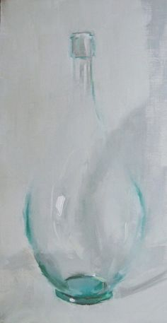 """Painting of glass... transparency in oils. """"Simplicity"""" impressionistic painting by artist Gina Brown #OilPaintingTutorial #OilPaintingArt"""