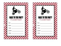 Free printable motorcycle birthday invitations son pinterest dirt bike birthday invitations scribd filmwisefo