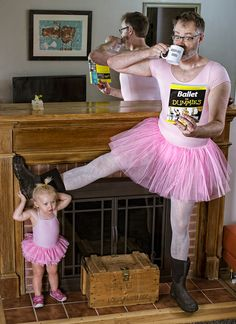 ballet master by Dave Engledow. You should check out the website. Really funny father daughter pics
