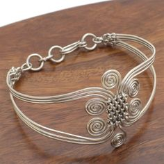 images of wire woven jewelry | African Jewelry - Silverplated Wire Woven Swirl ... | Wire Jewelry