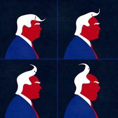 Trump © Benedetto Cristofani, all right reserved  #illustration #editorial #editorialillustration #conceptual #donaldtrump #portrait #conceptualillustration www.benedettocristofani.net