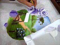 MOLDURA DE ROSAS - Pintura em Tecido - HOW TO PAINT ROSE