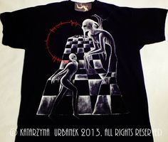 "T-shirt "" behind my eyes IV..."" malowany ręcznie. © Katarzyna Urbanek , All rights reserved https://www.facebook.com/lunarisart"