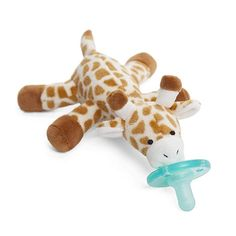 WubbaNub Infant Pacifier Giraffe Soothie Baby Soother Prevent Lost Pacifier NEW Wubbanub Pacifier, Best Pacifiers, Teething Stages, 3 Month Old Baby, Baby Gift Box, Baby List, Plush Animals, Baby Registry, Gift Registry
