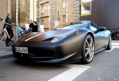 Matte Black #Ferrari