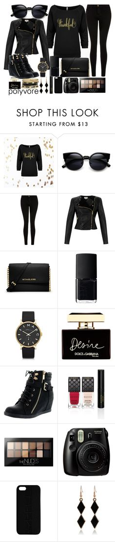 """thank you so much for 50,000 followers :) :) :)"" by j-n-a ❤ liked on Polyvore featuring Current/Elliott, Temperley London, MICHAEL Michael Kors, NARS Cosmetics, Marc by Marc Jacobs, Dolce&Gabbana, Top Moda, Gucci, Maybelline and Maison Takuya"